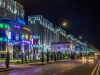 Ashgabat parks at night